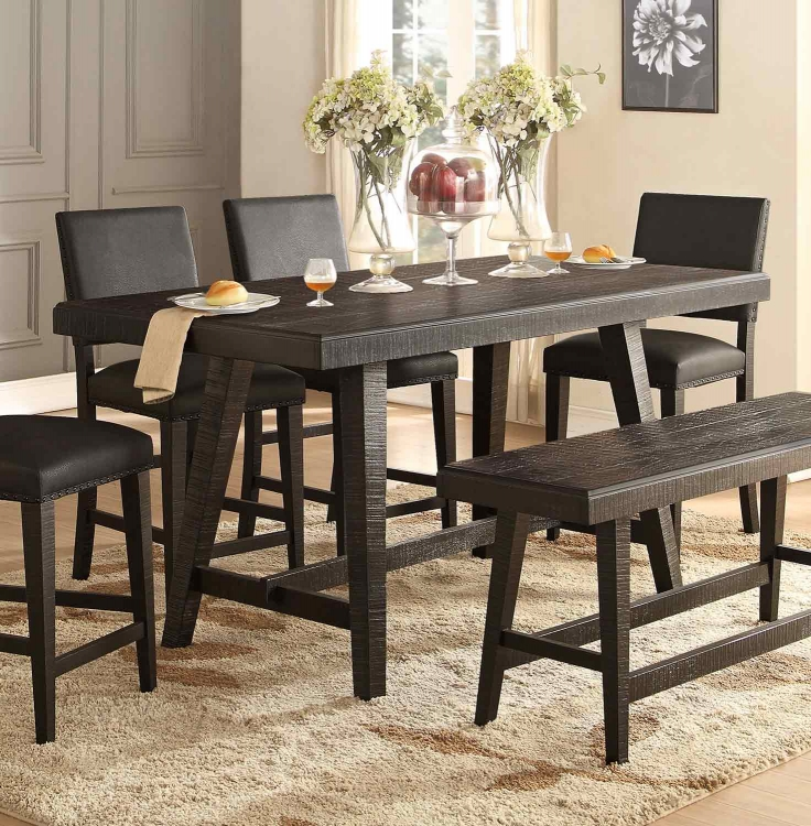 Fenwick Counter Height Table - Dark Gray