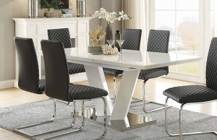 Yannis Rectangular Dining Table with Butterfly Leaf
