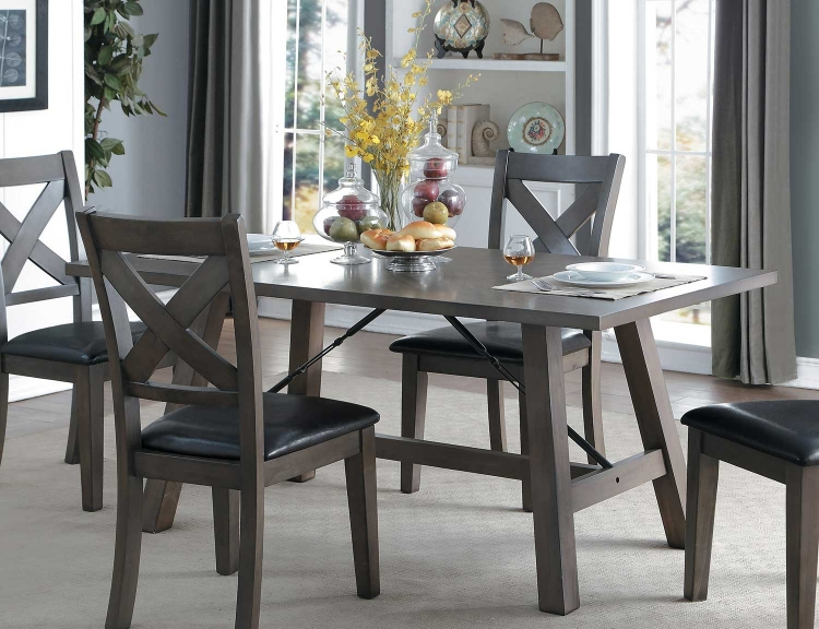 Seaford Rectangular Dining Table - Gray tone