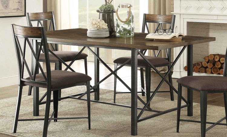 Sage Rectangular Dining Table - Burnish Finish