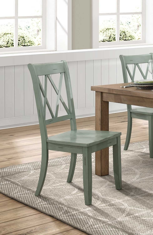 Janina Side Chair - Teal