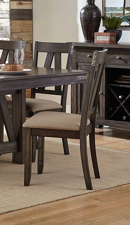 Mattawa Side Chair - Brown/Hints of Gray Undertone