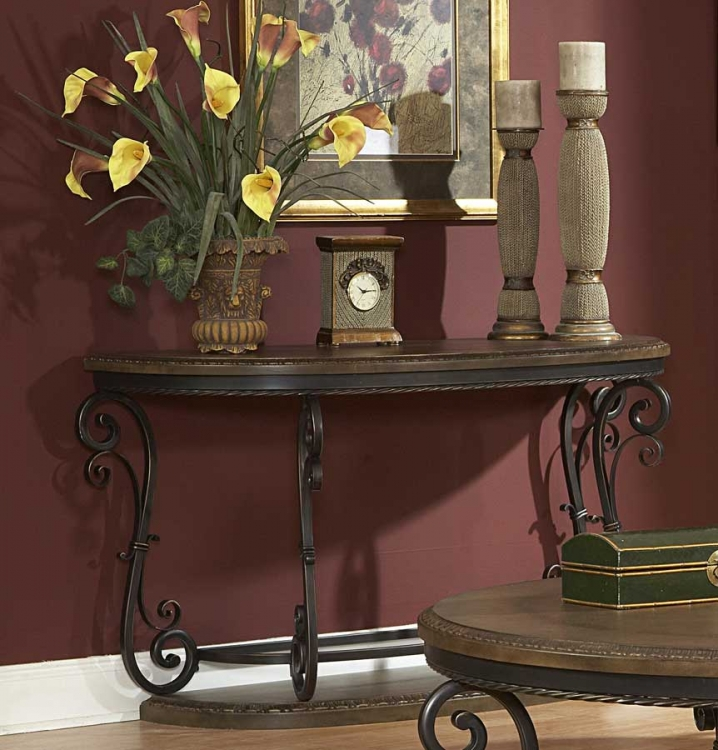 Harman Heights Oversized Sofa Table-Homelegance