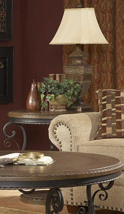 Harman Heights Round End Table