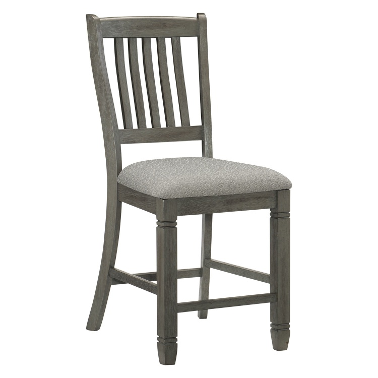 Granby Counter Height Chair - Antique Gray and Coffee