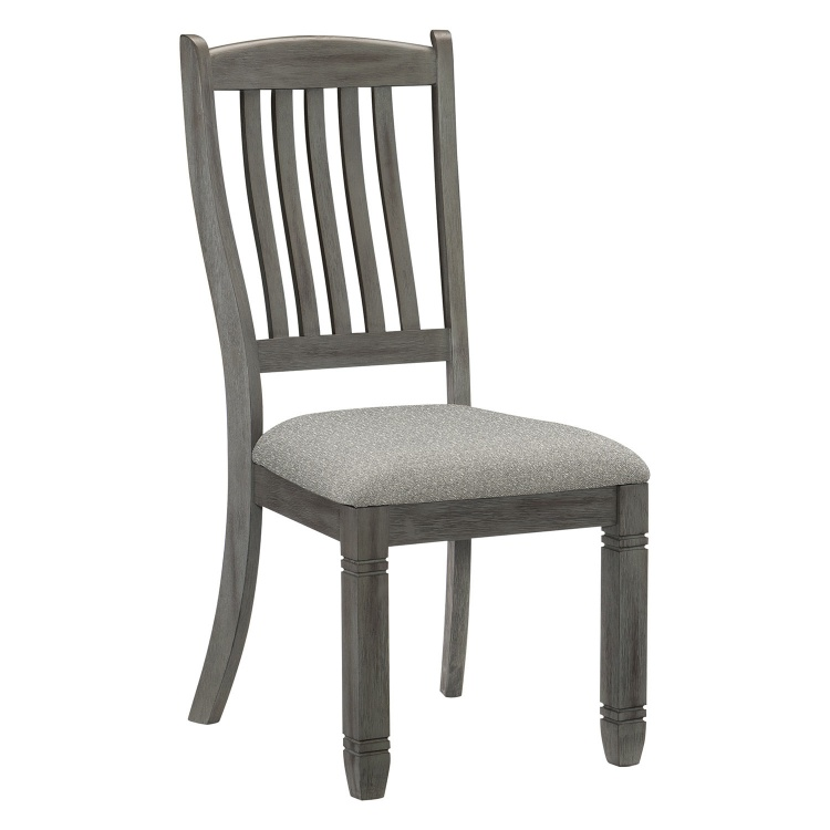 Granby Side Chair - Antique Gray and Coffee