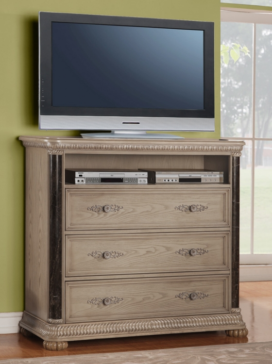Catalina TV Chest - White - Homelegance