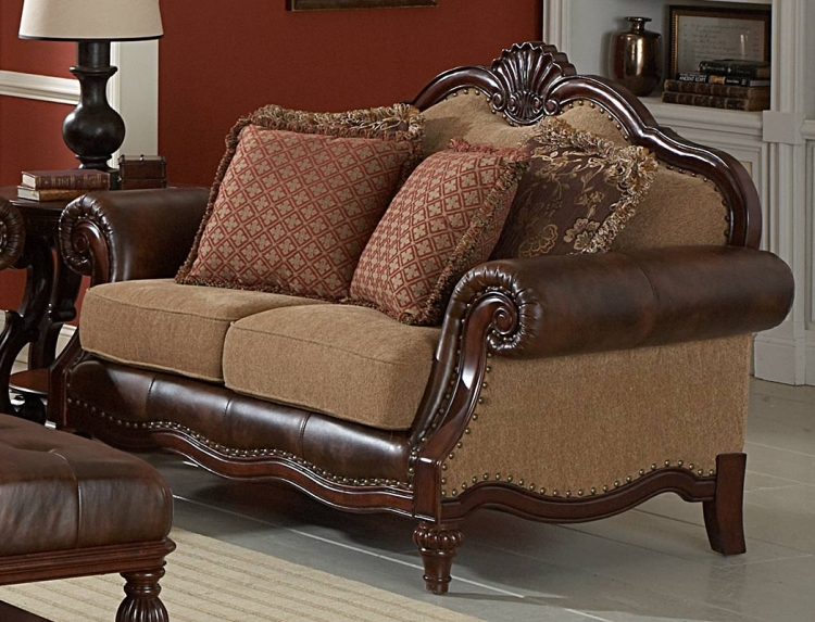 Winnfield Love Seat - Bonded Leather - Homelegance