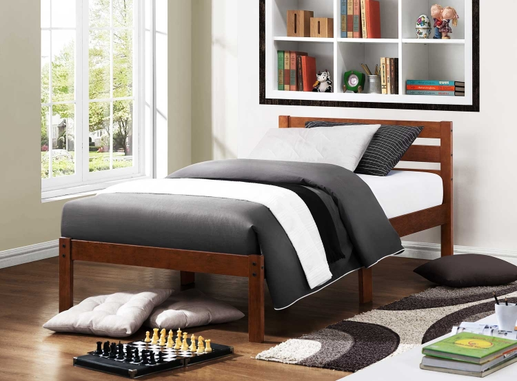 Bart Twin Platform Bed - Cherry