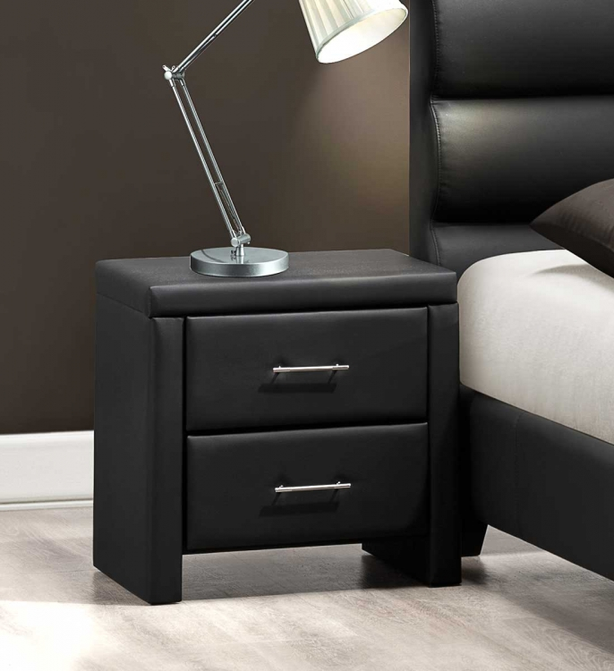 Aven Night Stand - Black