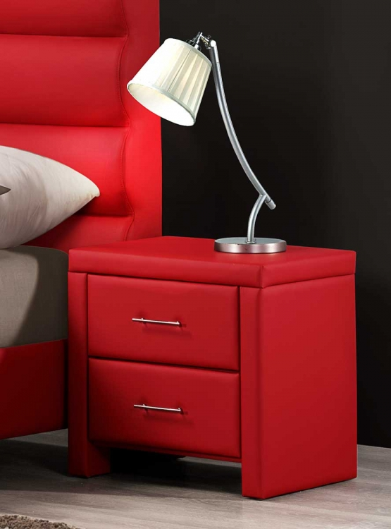 Aven Night Stand - Red - Homelegance