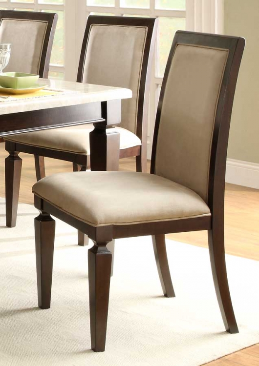 597D Side Chair - Microfiber - Dark Espresso - Homelegance