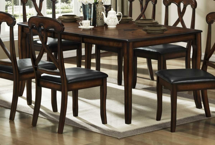 Kinston Dining Table with 18 inch Leaf - Homelegance