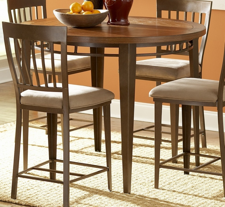 Lemont 45in Wood and Metal Round Counter Height Dining Table - Homelegance