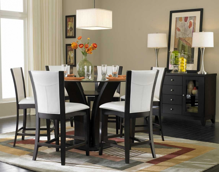 Daisy Round Glass Top Counter Height Dining Set - Homelegance