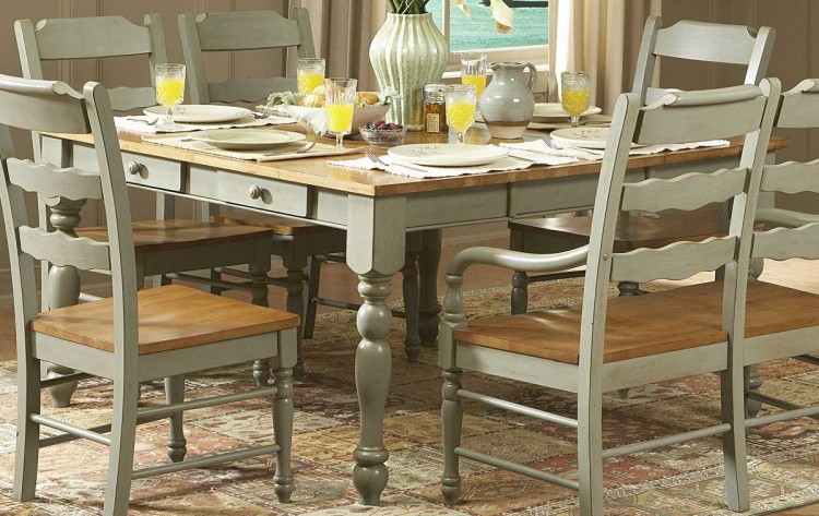 Sedgefield Dining Table with Drawers-Green