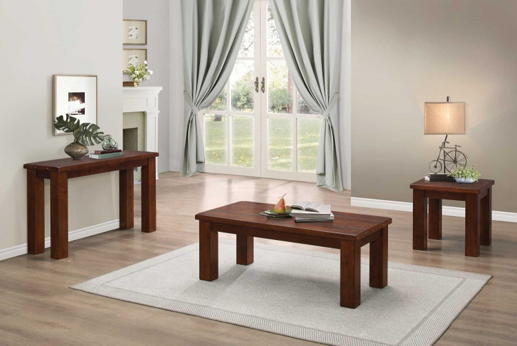 Santos Cocktail/Coffee Table Set - Natural Brown