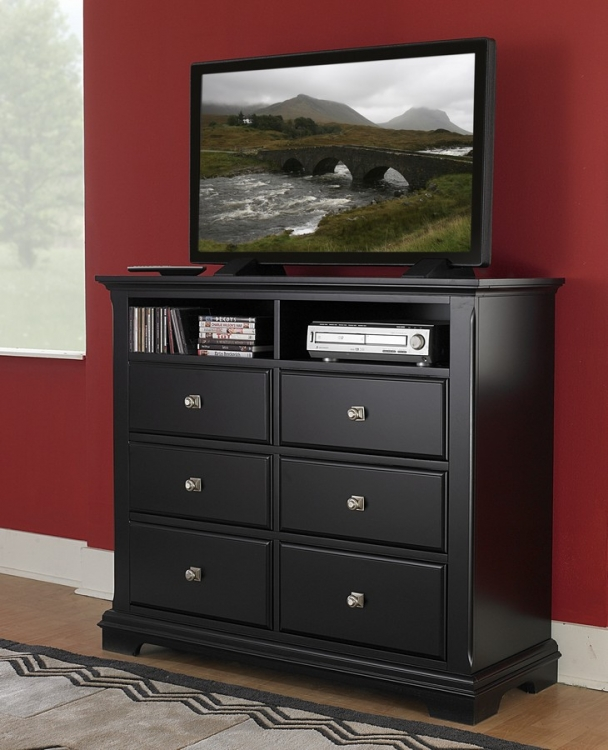 Preston TV Chest - Black