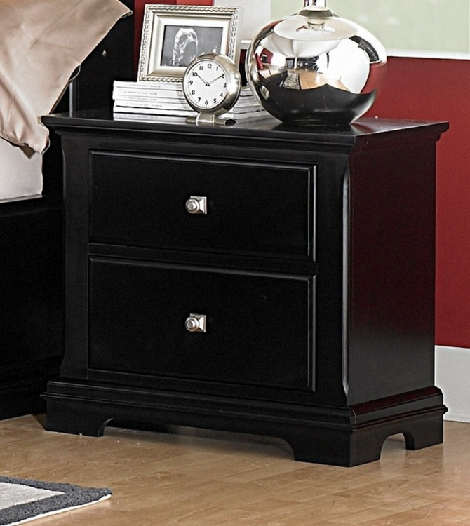 Preston Night Stand - Black - Homelegance
