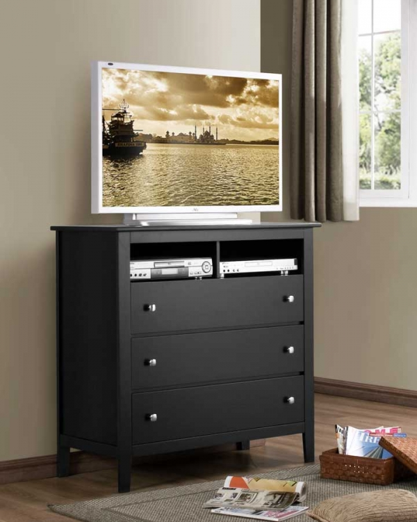 Harris TV Chest - Black - Homelegance