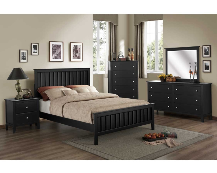 Harris Bedroom Set - Black - Homelegance