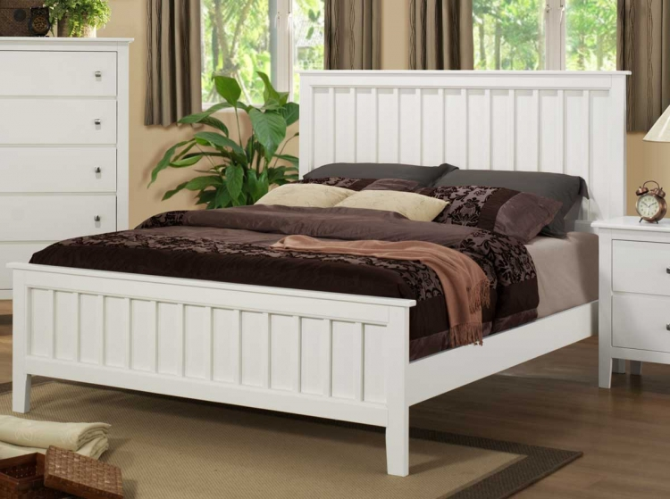 Harris Bed - White - Homelegance