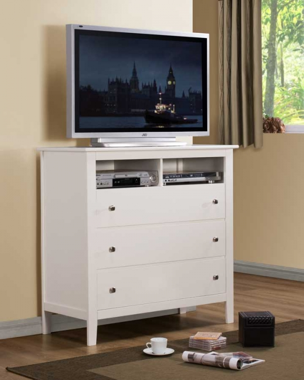 Harris TV Chest - White - Homelegance