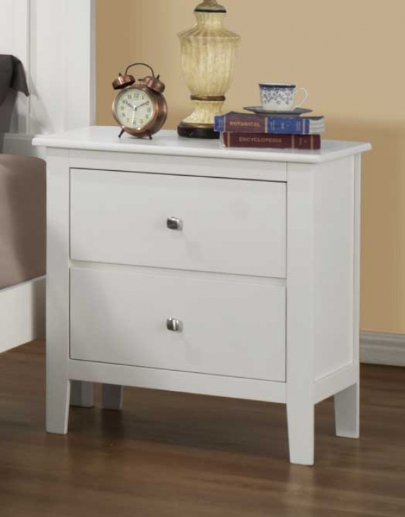 Harris Night Stand - White - Homelegance