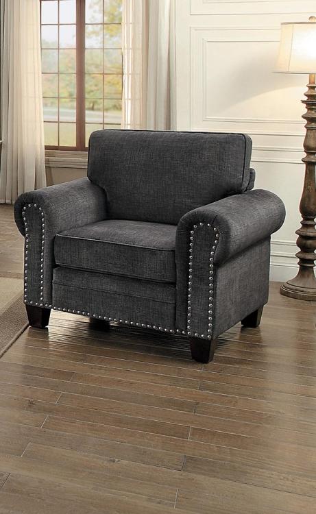Cornelia Chair - Dark Gray Fabric