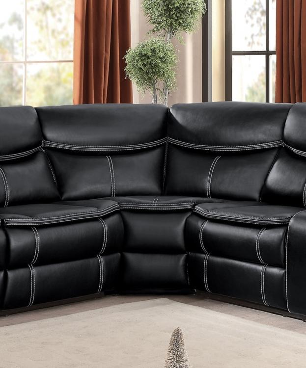 Bastrop Corner Wedge - Black Leather Gel Match