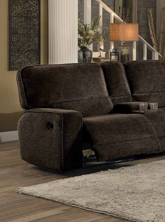 Shreveport Left Side Facing Reclining Chair - Brown Fabric