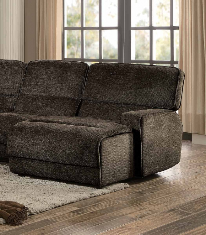 Homelegance Shreveport Right Side Facing Reclining Chaise - Push Back - Brown Fabric
