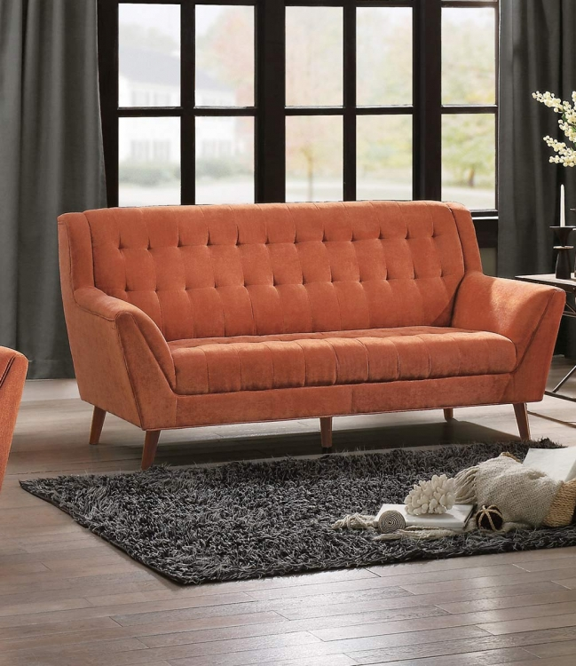 Erath Sofa - Orange Fabric