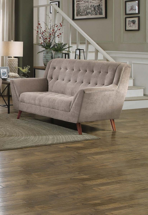Erath Love Seat - Sand Fabric