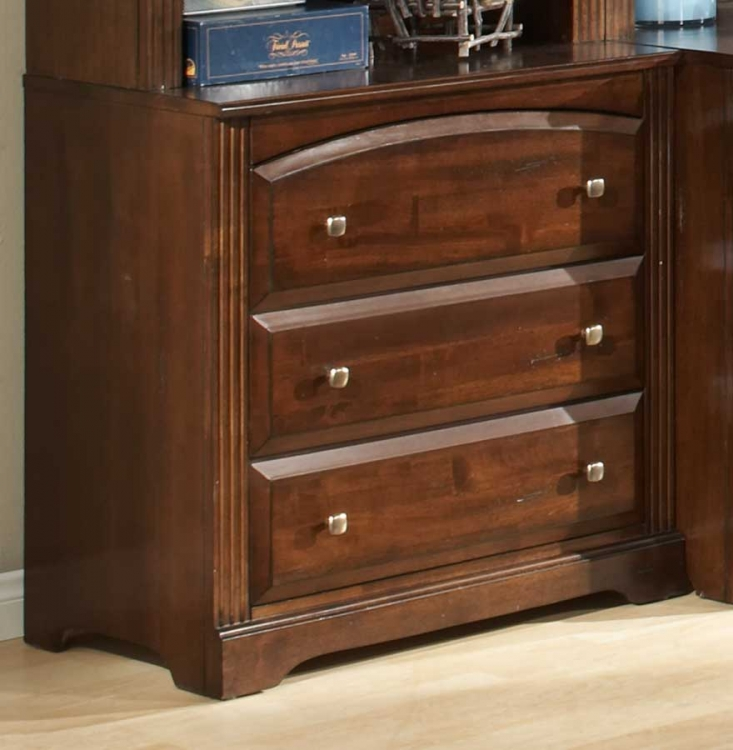 Truckee 3-Drawer Bachelor Chest-Cherry-Homelegance