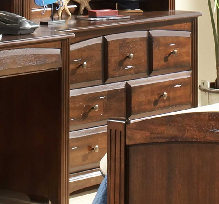 Truckee 5-Drawer Low Chest-Cherry-Homelegance