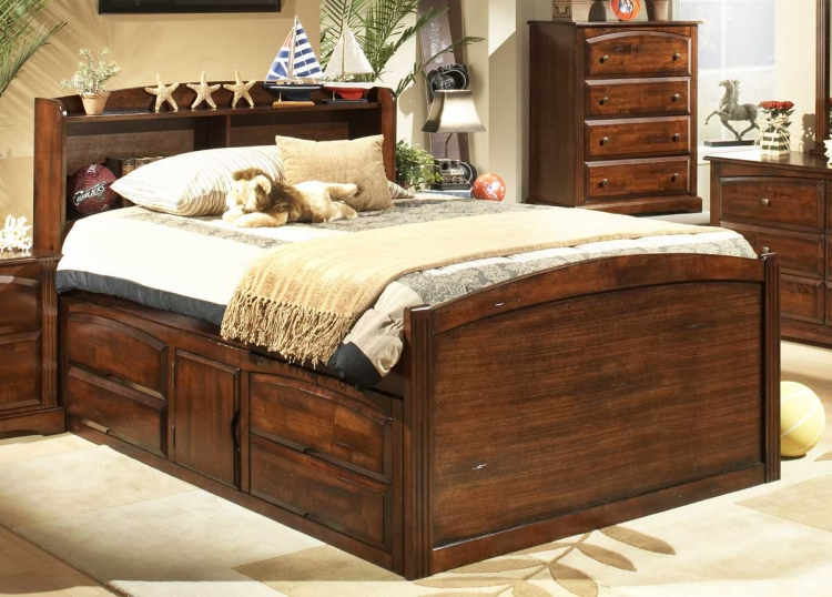 Truckee Captains Bed with Understorage-Homelegance