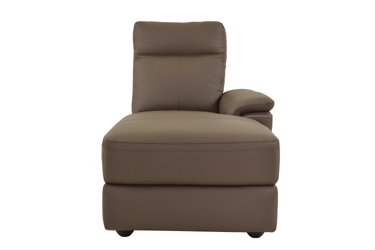 Olympia Right Side Facing Chaise - Raisin Top Grain Leather Match