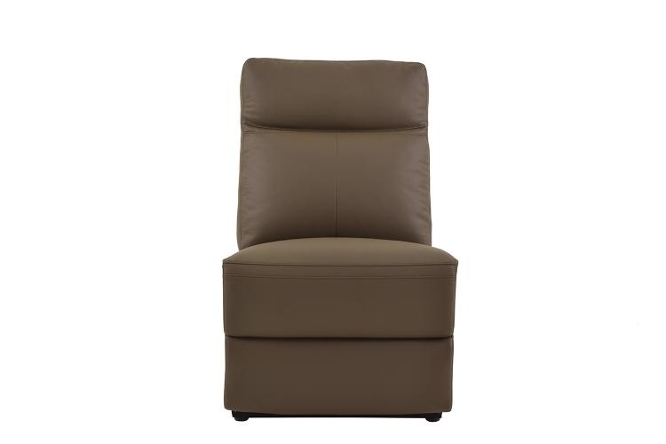 Olympia Armless Chair - Raisin Top Grain Leather Match