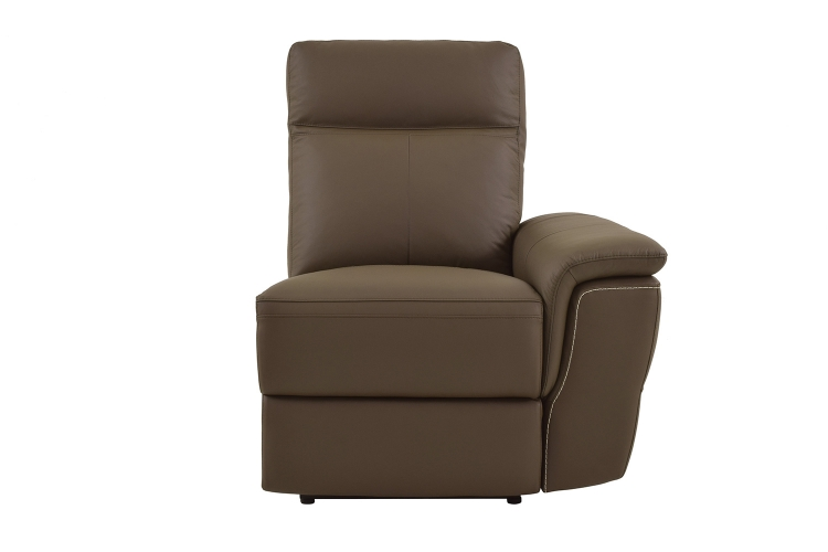 Homelegance Olympia Power Right Side Facing Reclining Chair - Raisin Top Grain Leather Match
