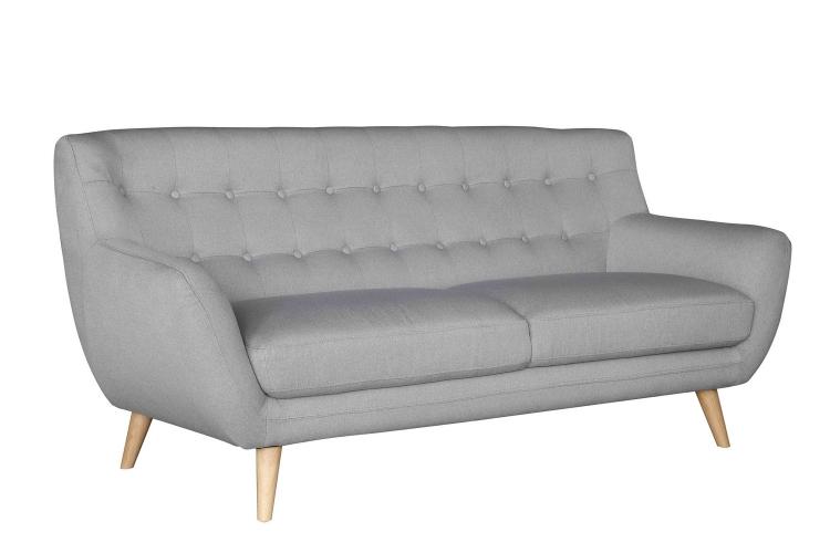 Anke Sofa - Polyester - Light Grey