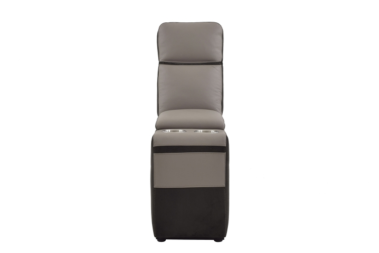 Homelegance Laertes Console - Taupe Grey Top Grain Leather/Fabric