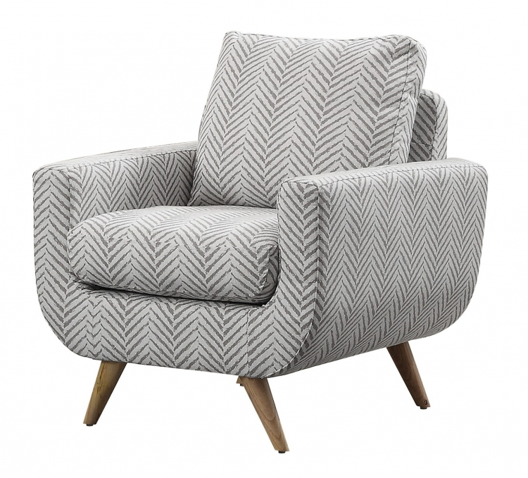 Deryn Accent Chair - Polyester - Grey