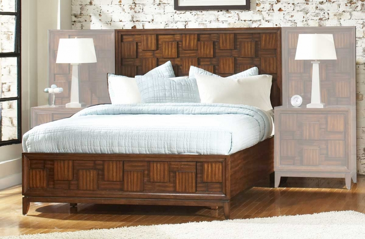 Campton Platform Bed with Storage Footboard - Homelegance