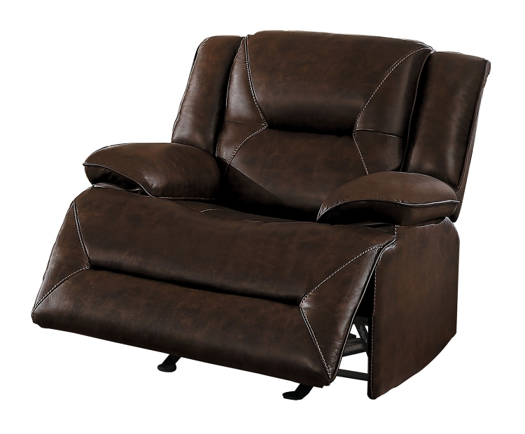 Okello Glider Reclining Chair - Brown AireHyde Match