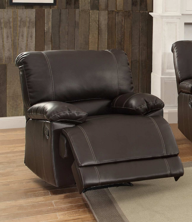 Cassville Reclining Chair - Dark Brown