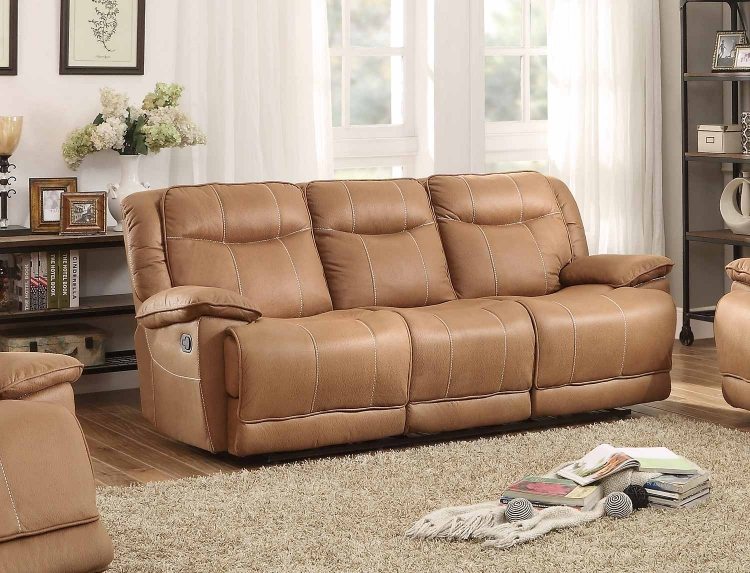 Wasola Triple Reclining Sofa - Brown