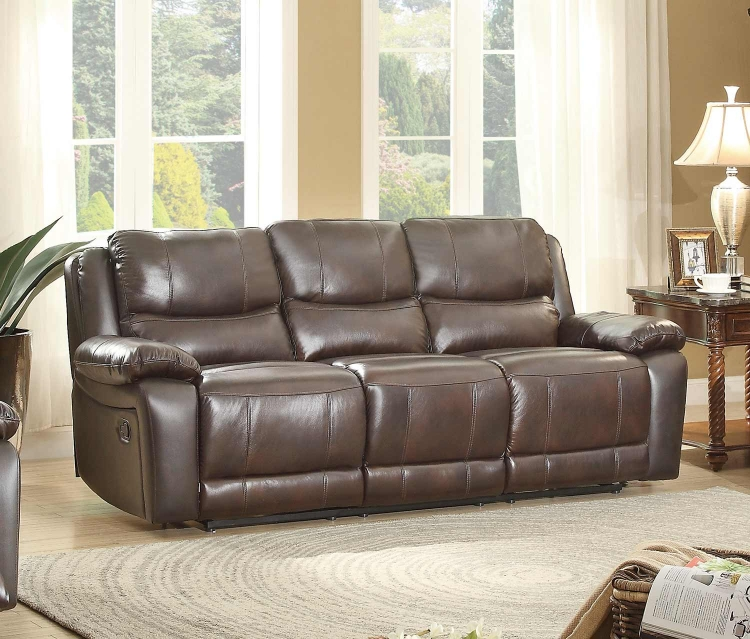 Parker House Thor Dual Reclining Power Sofa Tobacco