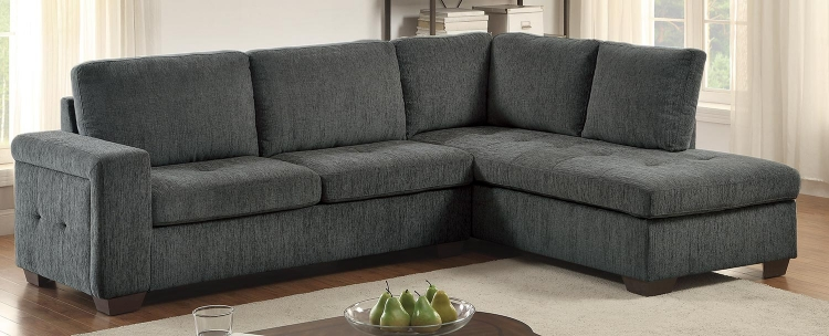Calby Lane Sleeper Sectional - Grey