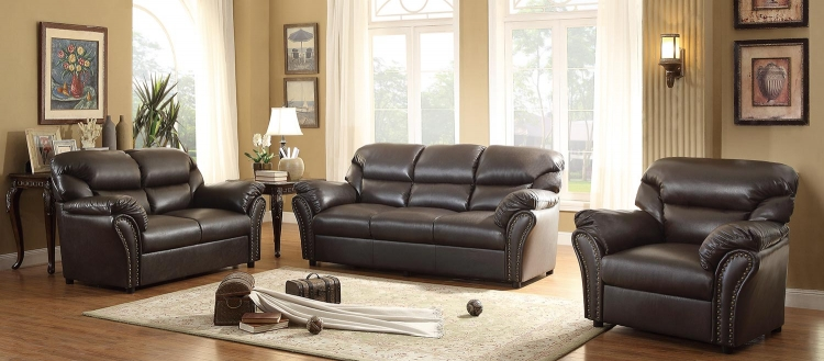 Stinett Sofa Set - Dark Brown